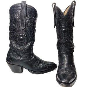 Rios of Mercedes Vintage Sunflower Cowboy Boots 8